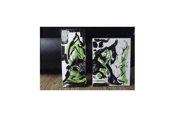 TABLEAU PEINTURE Abstrait Acrylique  - L'oeil Nature