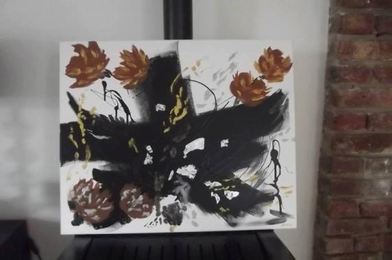 PAINTING Abstrait Acrylique  - Hésitation