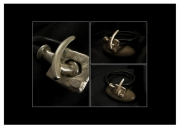 "bijoux abstrait mode luxe piece unique homme : ""Bruto del Toro"""