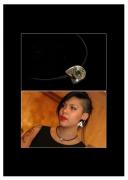 """bijoux abstrait pierre precieuse emeraude luxe nature : """"L'aventurière"""""""