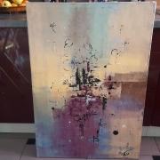 tableau abstrait abstrait moderne contemporain tableau : Tableau abstrait : Trening