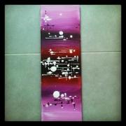 tableau abstrait abstrait acrylique diptyque rose : Tableau abstrait :Rosilla 2