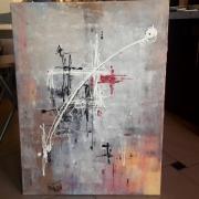 tableau abstrait abstrait moderne contemporain tableau : Tableau abstrait, contemporain : Flach