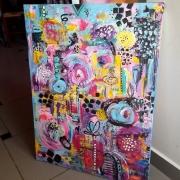 tableau abstrait moderne contemporain abstrait acrylique : Tableau abstrait, contemporain moderne :Jo's