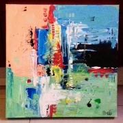 tableau abstrait abstrait acrylique tableau abstrait moderne : tableau abstrait: Going