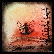 tableau personnages abstrait personnaqes papillon figuratif : Tableau abstrait : Mll papillon