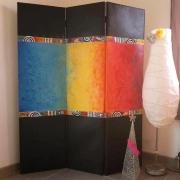 deco design abstrait paravent abstrait decoration moderne : paravent abstrait sur toile : Paravent