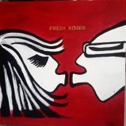tableau personnages pop moderne tableau contemporain : Tableau acrylique :Fresh kisser