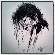 tableau personnages michael jackson dessins encre pop : Tableau encre :Michael Jackson
