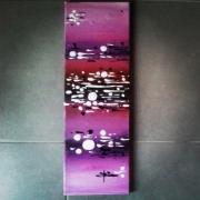 tableau abstrait abstrait acrylique rose diptyque : Tableau acrylique : Rosilla 3