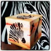 artisanat dart animaux animaux cube acrylique afrique : Le cube Africaine sur toile :Cube Africaine