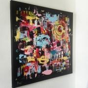 tableau abstrait abstrait moderne tableau contemporain : Tableau abstrait : Métamorphose