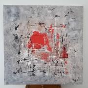 tableau abstrait moderne tableau contemporain : Tableau abstrait : Illes Medes