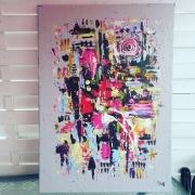 tableau abstrait abstrait moderne tableau contemporain : Tableau abstrait : Simi