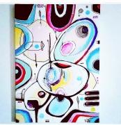 tableau abstrait abstrait moderne contemporain acrylique : Tableau abstrait acrylique, contemporain moderne : Yesss