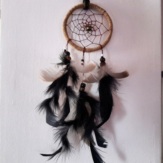AUTRES Attrape rêves Dream catcheur Plumes Perles Nature morte  - Attrape rêves 1