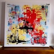 tableau abstrait abstrait contemporain moderne acrylique : Tableau abstrait, contemporain moderne :Rosemary