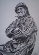 dessin personnages breton vieux loup de mer marin : Vieux Loup mer
