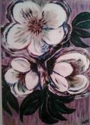 tableau fleurs violet roses noel deco : Roses de Noël