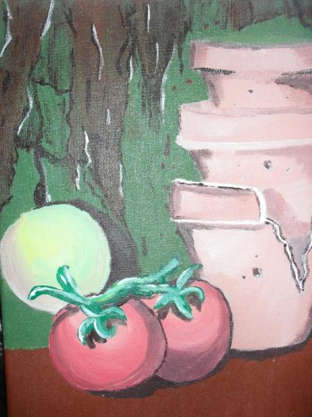 TABLEAU PEINTURE nature fruits nourriture Fruits Acrylique  - Panier frais