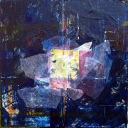 tableau abstrait symbolisme bleu : Carré long
