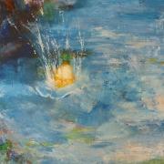 """tableau marine luminosite chaleur mouvement couleurs : """" Source chaude en mer de Chine"""""""