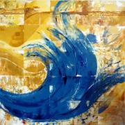 tableau marine vigueur mouvement couleurs matieres : En vague déferlante