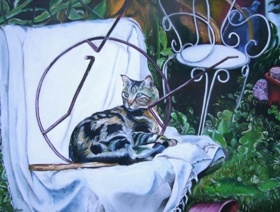 TABLEAU PEINTURE  - le chat
