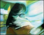 tableau scene de genre mystere portrait : mysrérieuse