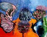 tableau : papillons aux artichaux