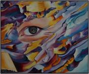 """tableau abstrait yeux amour abstrait : """"Je Te Vois"""""""