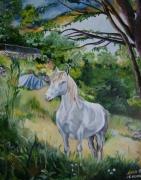 tableau animaux cheval prairie : Kouma