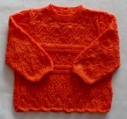 art textile mode pull bebe 69 mois ajoure : pull en points ajourés pour bébé 6/9 mois en laine