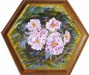 tableau fleurs relief lumineux decoratifabordable : Les pivoines