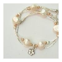 Bracelet feuilles en argent