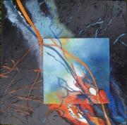tableau abstrait abstrait deco feuille collages : les 3 folies N°3