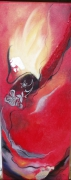 tableau abstrait rouge lingerie feminite colore : carnaval N°2