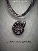 bijoux ras de cou escargot fimo escargot : Collier gamme minérale n°12