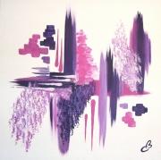 tableau abstrait toile zen rose et violet : FRAGRANCE