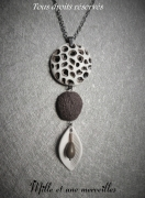 bijoux artisanat cadeau fete des mere collier unique : Collier gamme minérale n°1