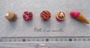 deco design aimants decoratifs idee cadeau patisserie decor frigo : Magnets aimants FIMO gourmandises