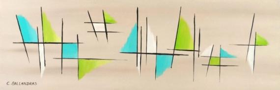 TABLEAU PEINTURE tableau zen turquoise et vert contemporain Abstrait Acrylique  - LES EMBRUNS
