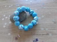 Bracelet FIMO dégradé de bleus