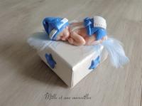 Boîte à dents de lait petit garçon ton bleu
