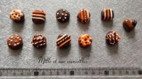 Magnets aimants Fimo chocolat orange