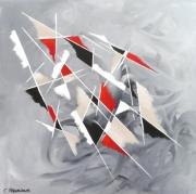 tableau abstrait tableau astrait noir moderne : TRAHISON