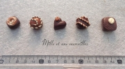 deco design aimants frigo magnets chocolats : magnets FIMO tout choco