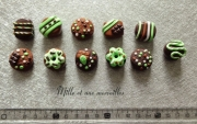 deco design aimants chocolat magnets fait main deco frigo idee cadeau : Magnets aimants Fimo chocolat menthe