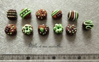 Magnets aimants Fimo chocolat menthe