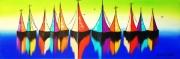 tableau marine bateaux voiliers mer paysage marin : BATEAUX EN COULEUR